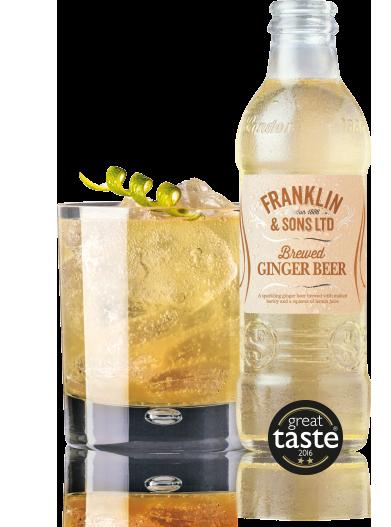 Franklin & Sons Brewed Ginger Beer (Pack of 2)