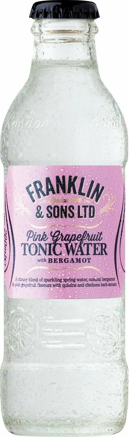 Franklin & Sons Pink Grapefruit with Bergamot Tonic (Pack of 2)