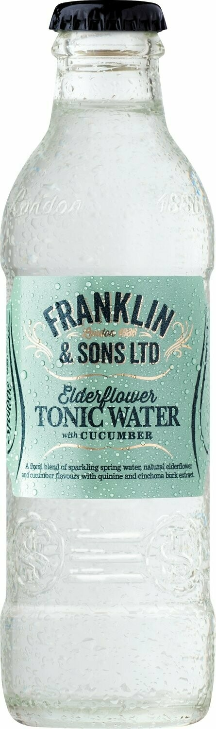 Franklin & Sons Elderflower with Cucumber Tonic (Pack of 2)