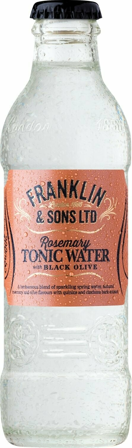 Franklin & Sons Rosemary with Black Olive Tonic (pack of 4)