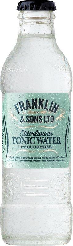 Franklin & Sons Elderflower with Cucumber Tonic (200ML x 12)