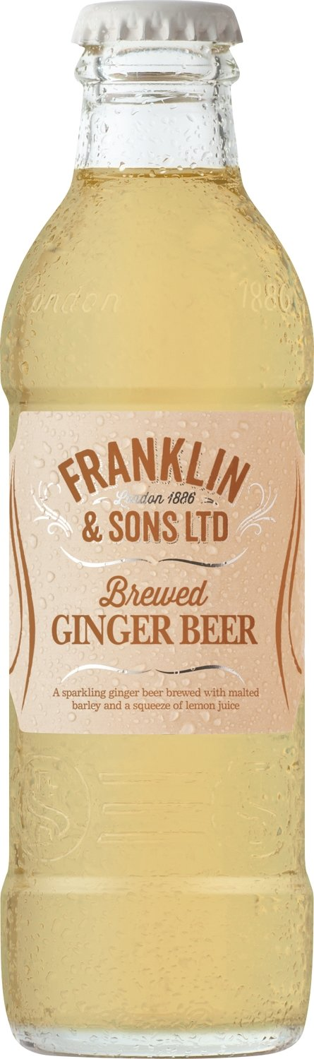 Franklin & Sons Brewed Ginger Beer with Malted Barley (200ML x 12)
