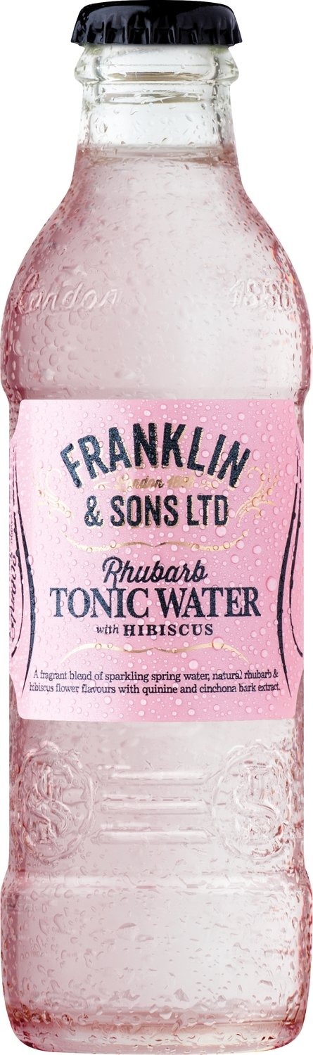 Franklin & Sons Rhubarb with Hibiscus Tonic (200ml x 12)