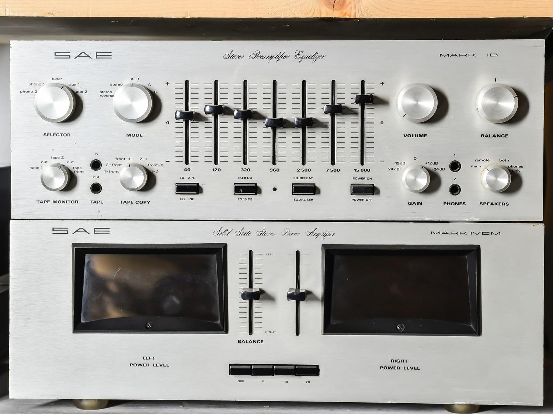 Pre-amplificatore SAE mark lb e finale SAE mark lvcm