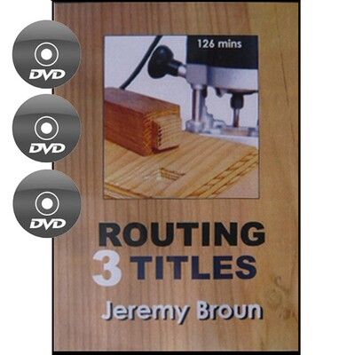 Three Routing Titles - DVDs -     (1) Essential Routing, (2) Jointcutting with the Router, (3) Router Jigging