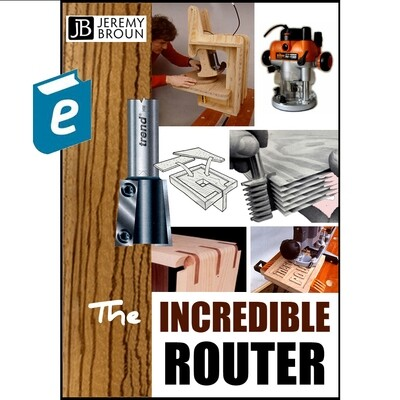 The Incredible Router - video integrated on ebook. Based on the original bestselling paper back - the definitive book about creative routing for all skill levels and is both comprehensive and indepth.