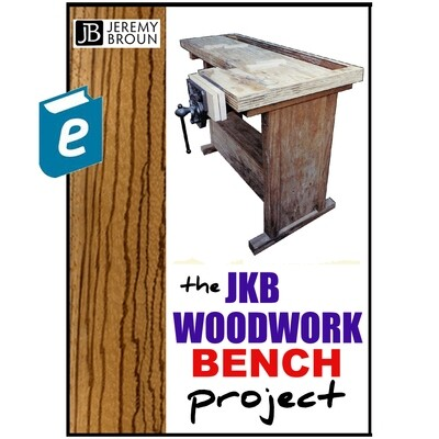 The JKB Woodwork Bench - Ebook. A clever compact plywood bench that can be easily and inexpensively made. It bolts together, us sturdy and is designed by an award-winning woodworker.