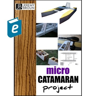 Micro Catamaran Project - video integrated online book.  A lightweight bolt together thin plywood electric powered craft that fits into the back of a Smart ForTwo car and is ideal for canal and river.