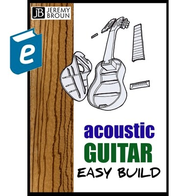 Acoustic Guitar Easy Build - video integrated online ebook.  Basic package