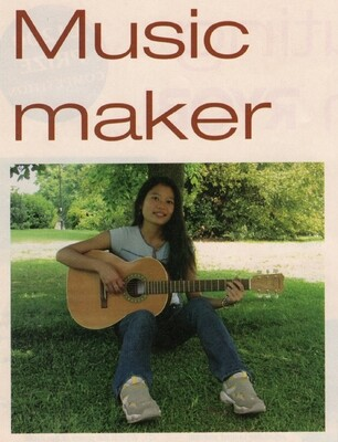 MUSIC MAKER. Jeremy Broun shows how a router is used for guitar building (Trend magazine 2003)