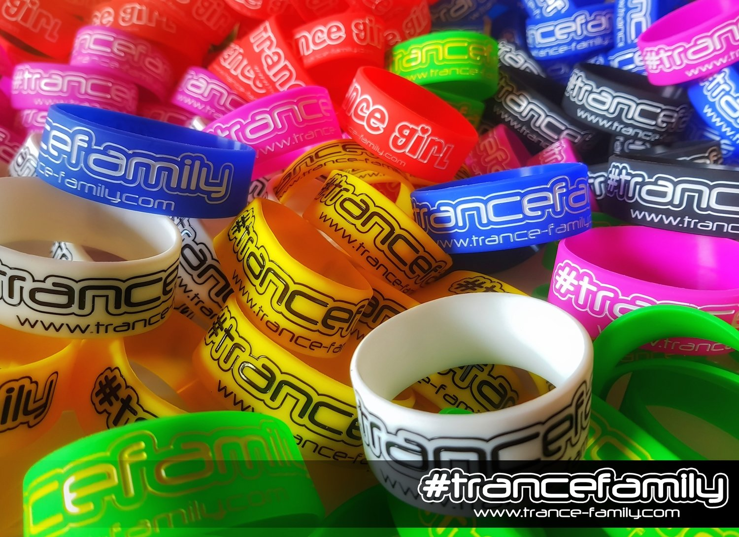#TranceFamily Wristbands - purple