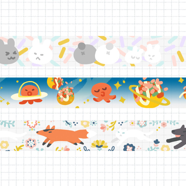 Gold Foil Clear Tape
