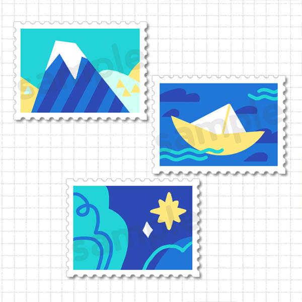Pin Set: Stamps