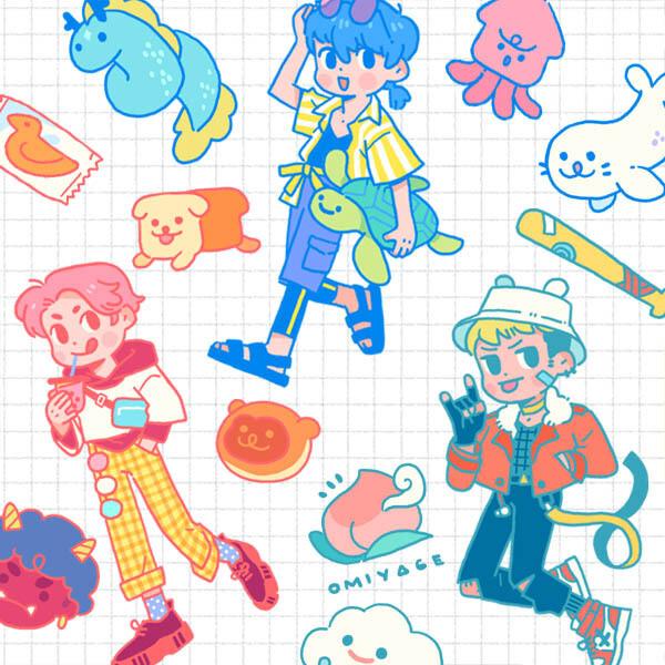 Sticker Set: Adventurers