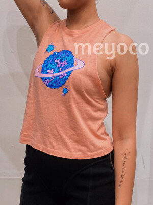 Hydrangea Planet Cropped Tank Top
