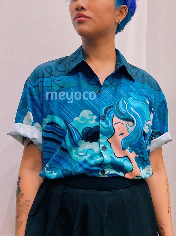 Ocean Girl Button Up Shirt