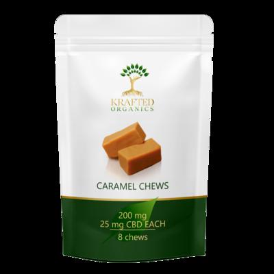 CBD Caramel Chews200 mg (8) per package 25mg each