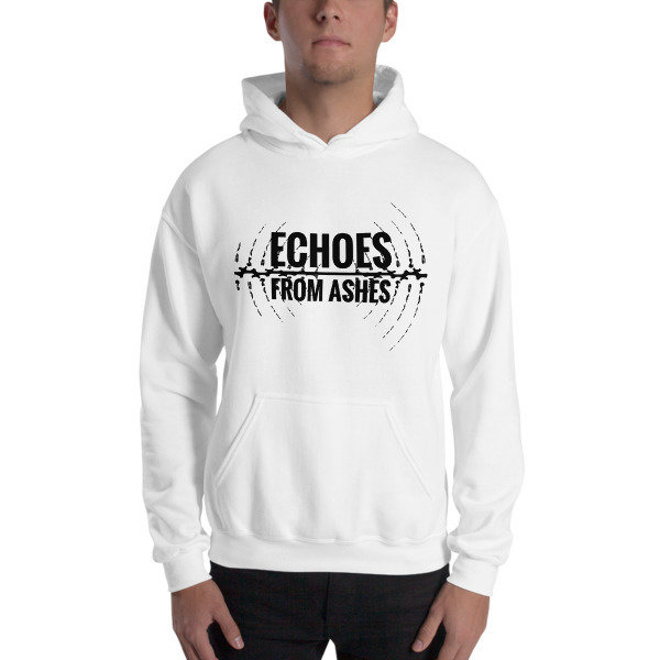 White Unisex Hooded Sweatshirt