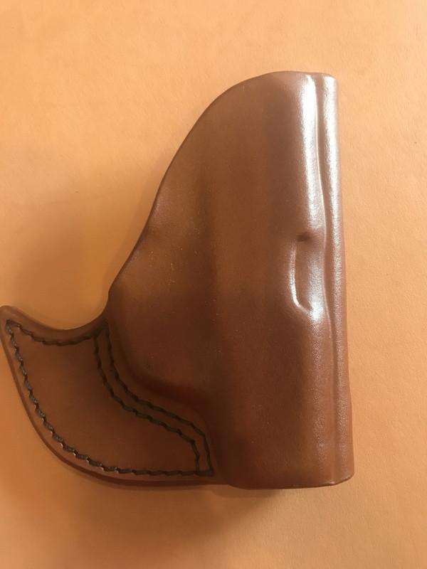 Ruger LCP Pocket Holster brown cowhide
