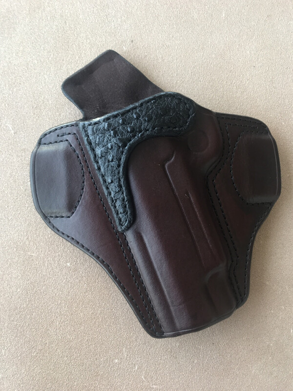 """**Blemish** Left Hand 1911 5"""" with rail and black ostrich trim"""
