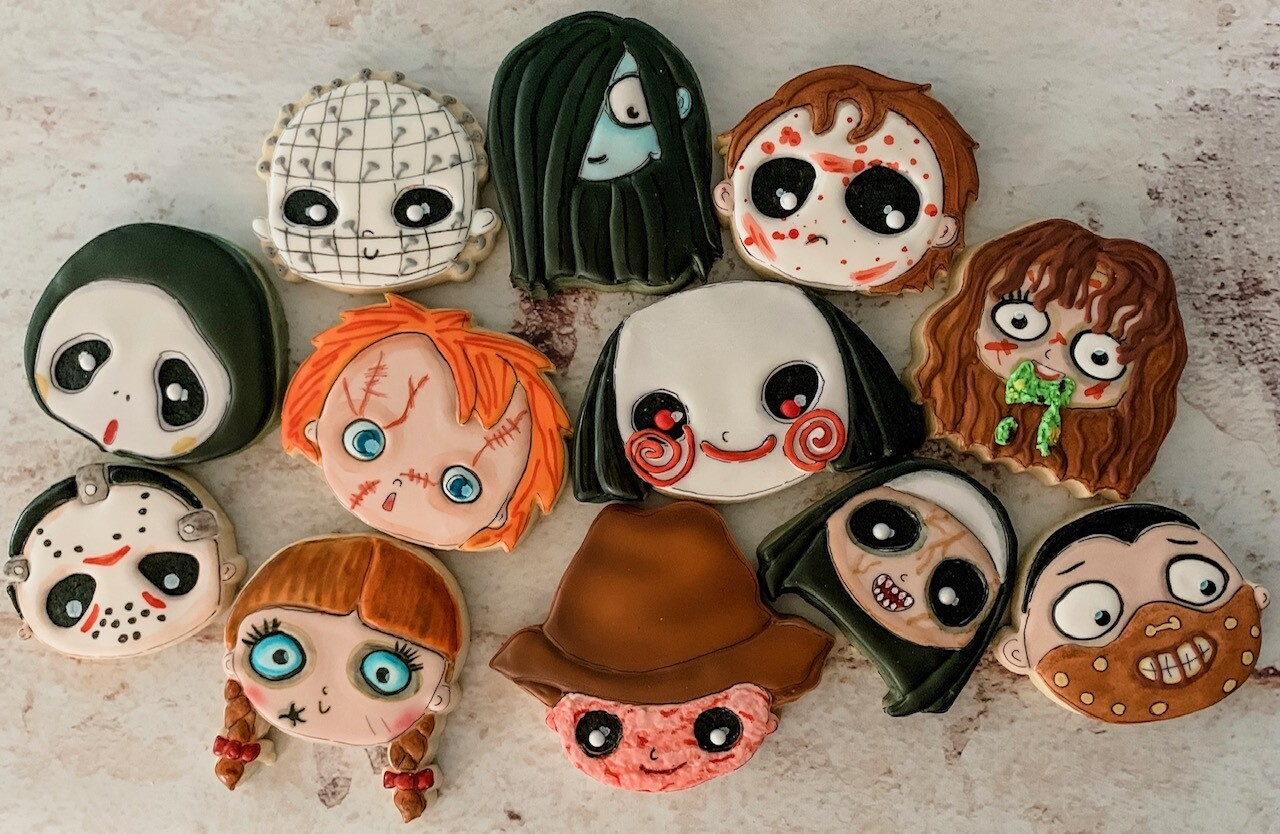 Set of 12 Horror Icons Cookie Cutters