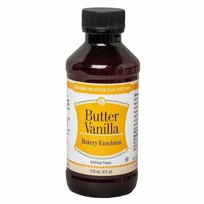 Butter Vanilla Bakery Emulsion - 4oz