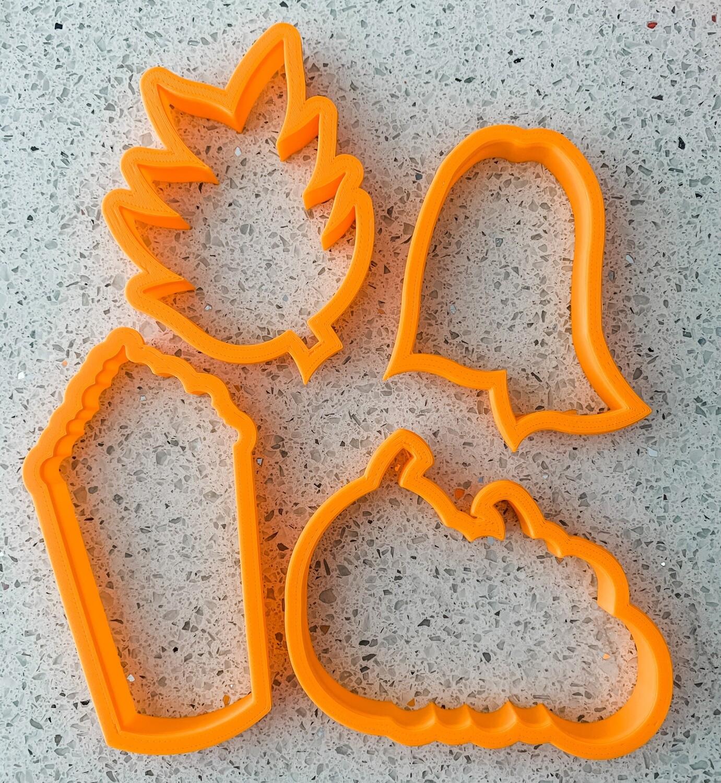 Pumpkin Spice 4 Piece Cutter Set
