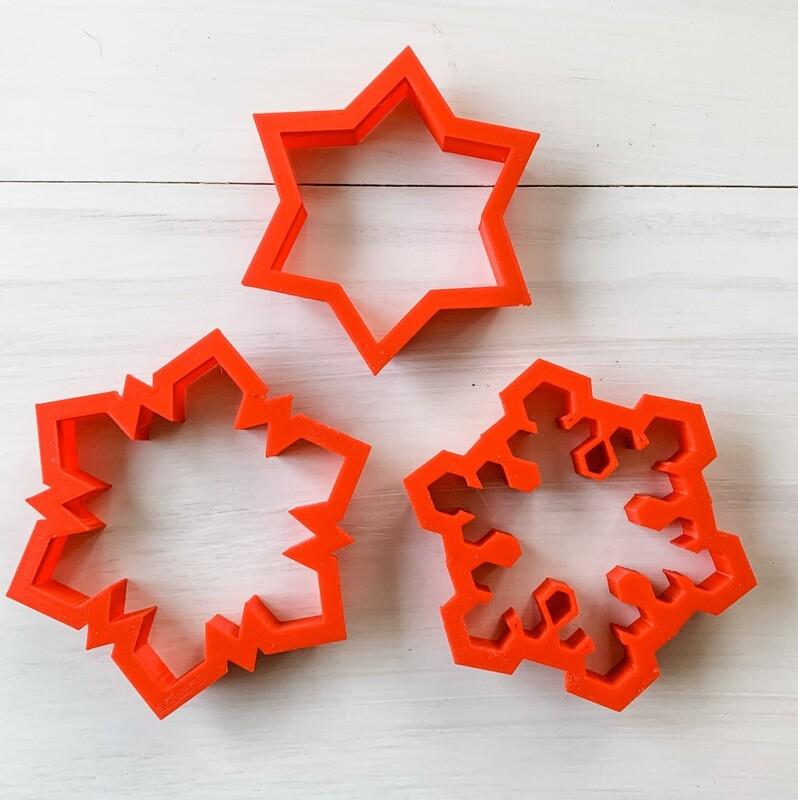 3 Piece Cutter Set for Snowflake Class