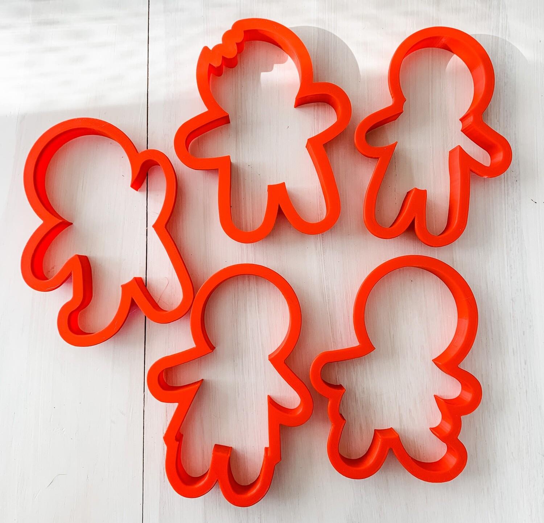 5 Piece Cutter Set for Gingerbread Class