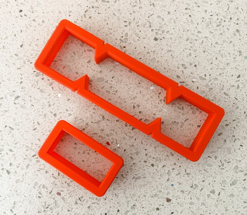 2 Piece Cutter Set for Cookie Crackers