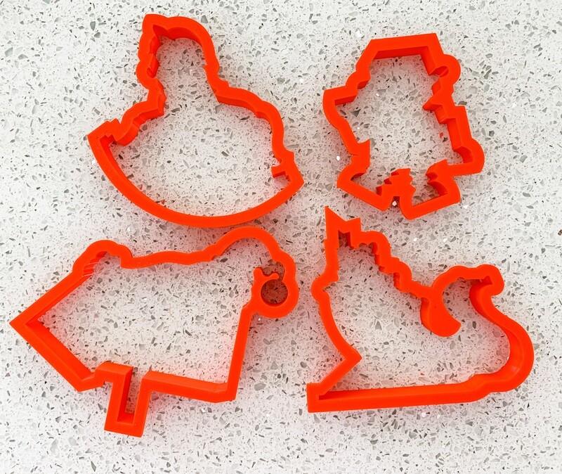 4 Piece Cutter Set for Santa's Workshop