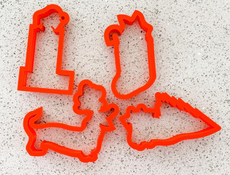 4 Piece Cutter Set for Meowy Christmas Class