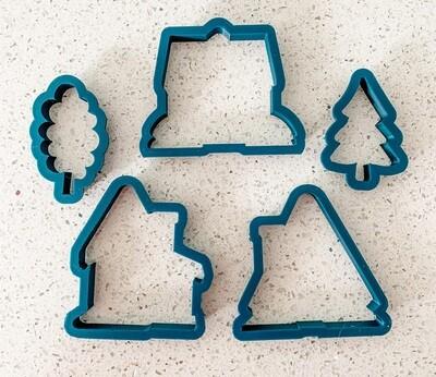 5 Piece Cutter Set for Winter Village Class