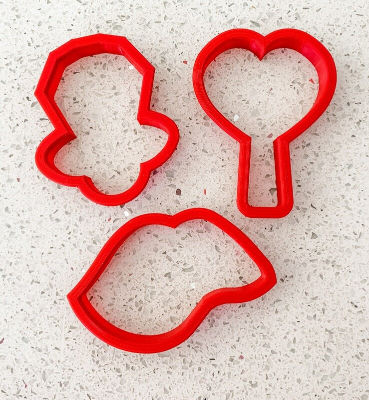3 Piece Cutter Set for Sweet Valentines