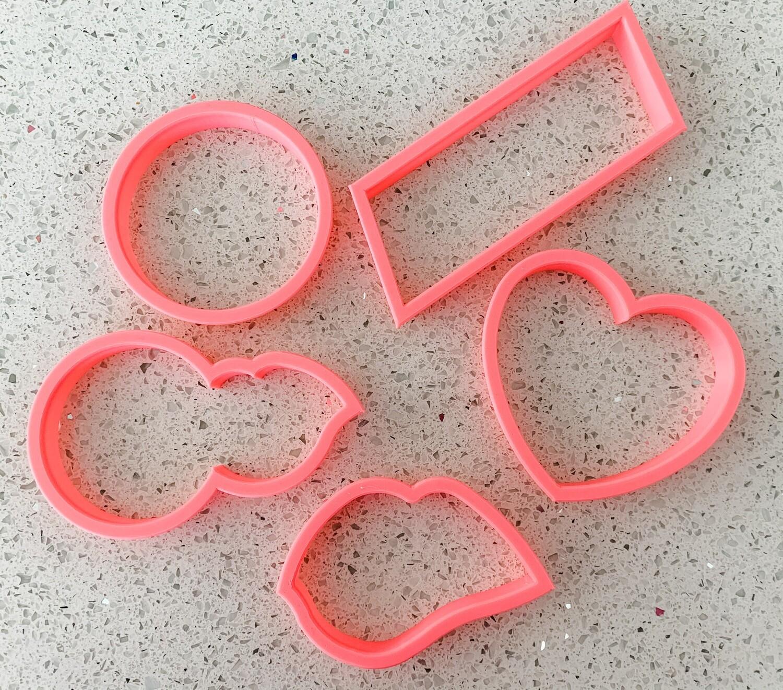 5 Piece Cutter Set for Love Bites Class