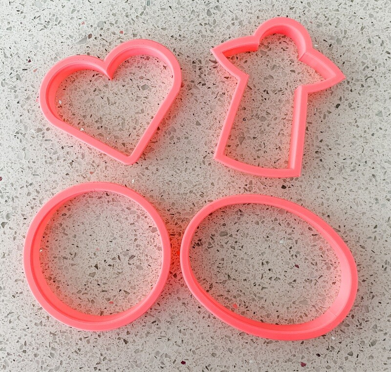 4 Piece Cutter Set for Outer Space Love