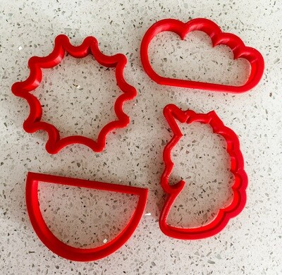 4 Piece Cutter Set for Cookie Decorating 101
