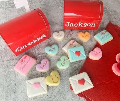 Personalized Mailbox with One Dozen Mini Cookies