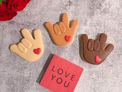 ASL I Love You Hand Cookie