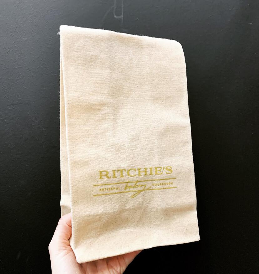 Reusable Waxed Canvas Bread Sack