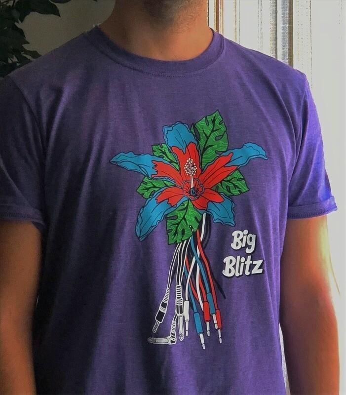 Electro-Flower Tee (Purple)