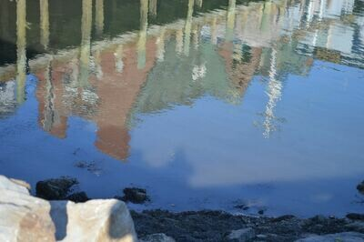 Harbor Reflections - Metal Print 12x8