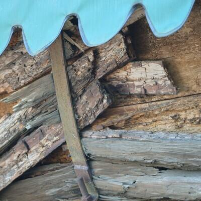 Log Cart - Metal Print 12x12