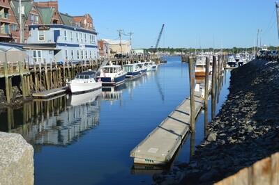 Printed Greeting Card- Harbor Boats