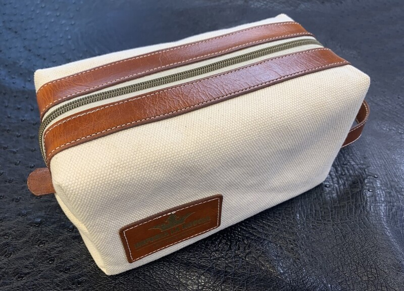 ILR Raw Canvas and Leather Dopp Kit