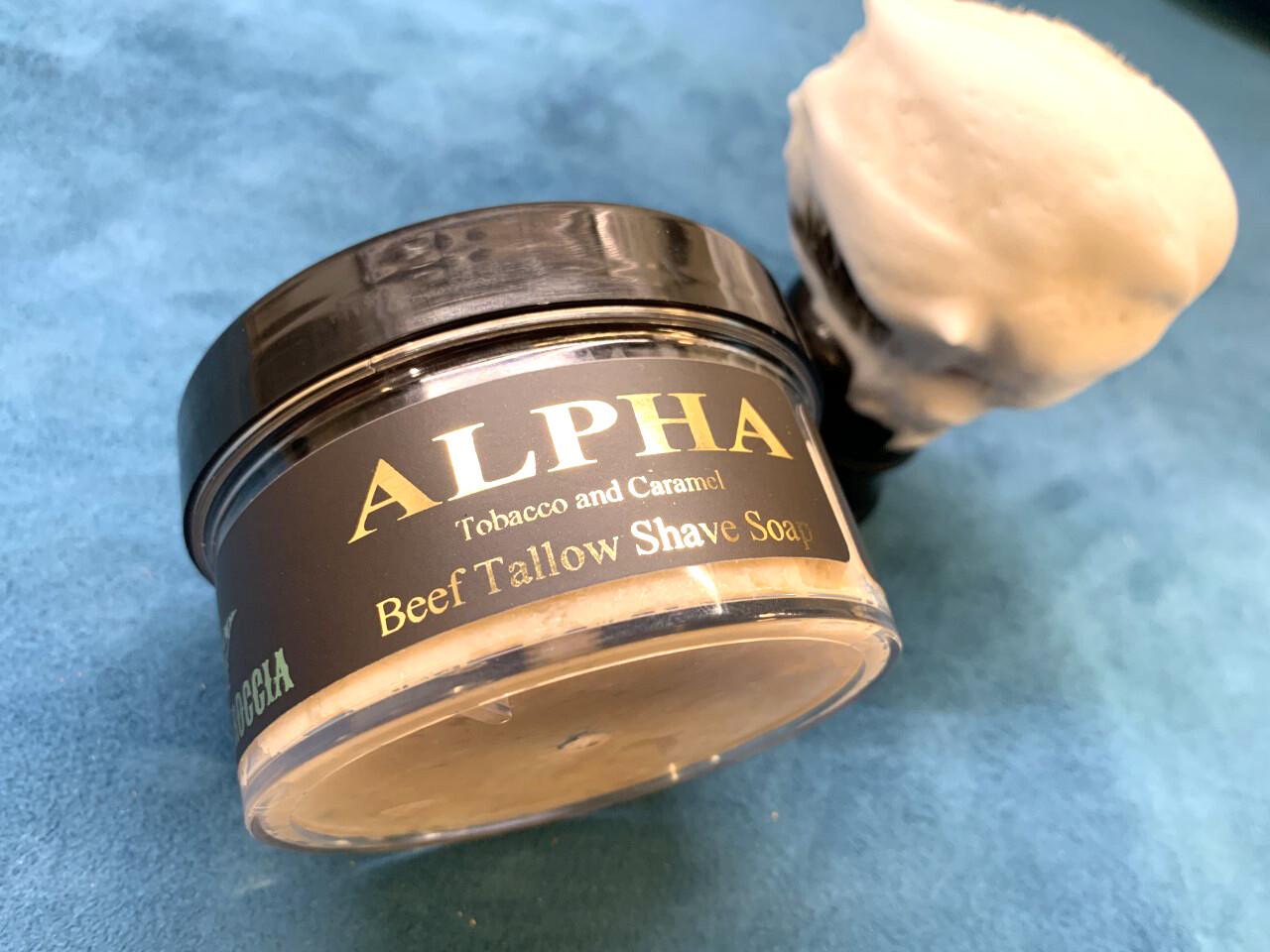 ILR ALPHA Shave Soap 5 oz. (Fresh Tobacco and Caramel)