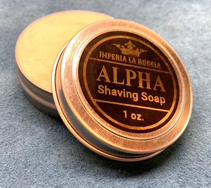 ILR ALPHA Shave Soap Sample Size 1 oz. (Fresh Tobacco and Caramel)
