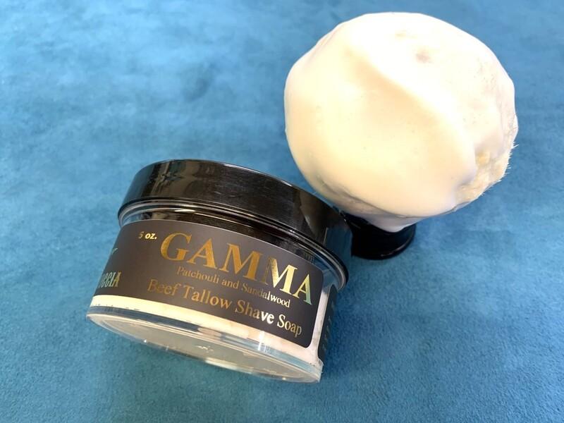 ILR GAMMA Shave Soap 5 oz. (Patchouli and Sandalwood)