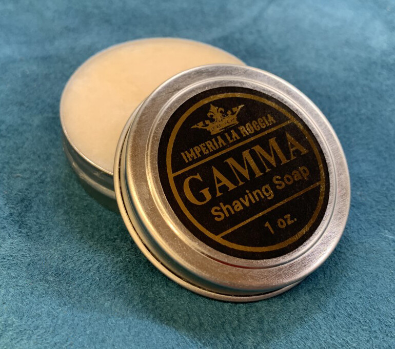 ILR GAMMA Shave Soap Sample Size 1 oz. (Patchouli and Sandalwood)