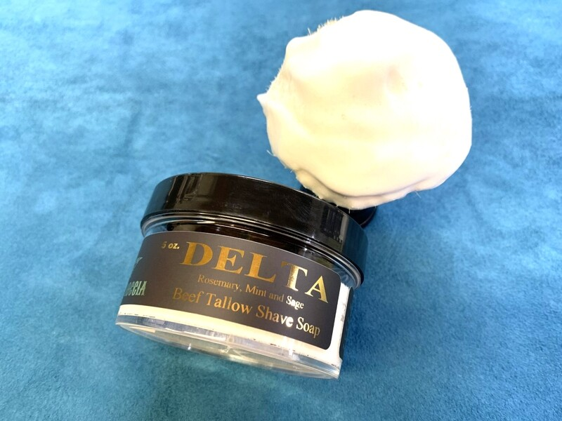 ILR DELTA Shave Soap 5 oz. (Rosemary, Mint, and Sage)